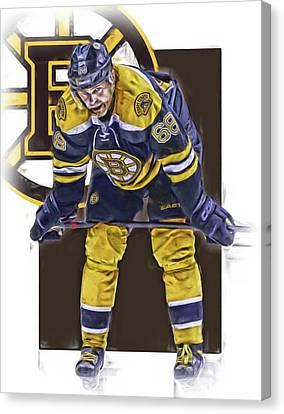 Jaromir Jagr Boston Bruins Oil Art Series 4 Canvas Print by Joe Hamilton