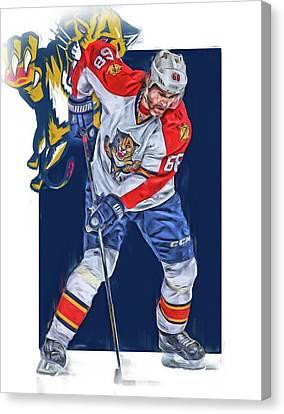Jaromir Jagr Florida Panthers Oil Art Series 3 Canvas Print by Joe Hamilton