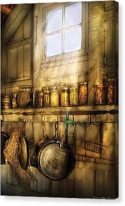 Jars - Winter Preserves  Canvas Print by Mike Savad
