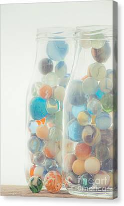 Jars Full Of Marbles Canvas Print
