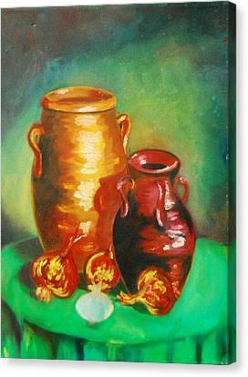 Jars Canvas Print by Matthew Doronila