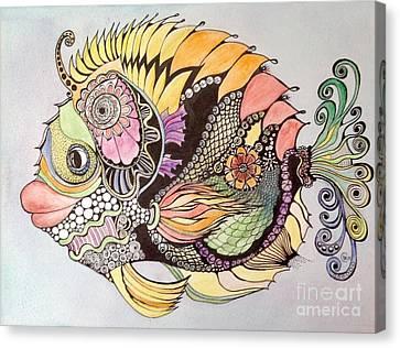 Jasmine The Fish Canvas Print by Iya Carson