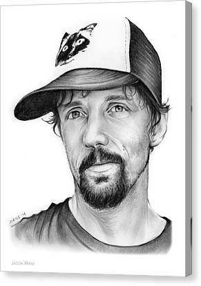 Jason Mraz Canvas Print by Greg Joens