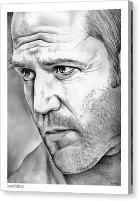 Jason Statham Canvas Print by Greg Joens