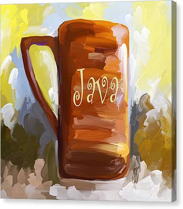 Java Coffee Cup Canvas Print