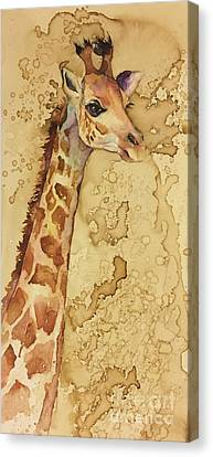 Canvas Print featuring the painting Java Giraffe by Christy Freeman