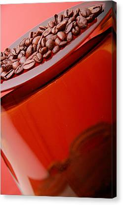 Java In Red Canvas Print