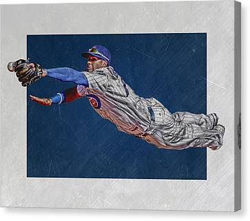 Javier Baez Chicago Cubs Art 2 Canvas Print by Joe Hamilton