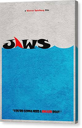 Odd Canvas Print - Jaws by Inspirowl Design