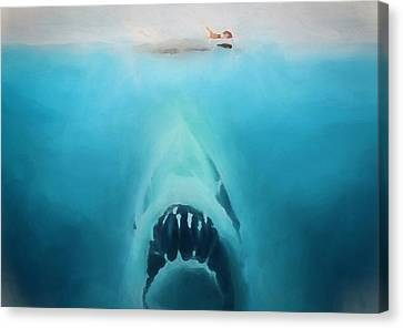 Jaws Canvas Print by Dan Sproul