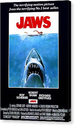 Jaws Movie Poster - 1975 Canvas Print by The Titanic Project