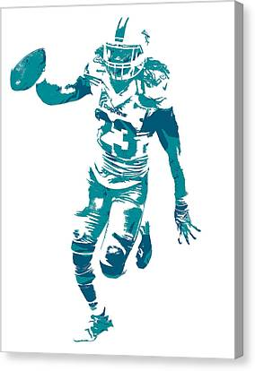 Dolphin Canvas Print - Jay Ajayi Miami Dolphins Pixel Art 1 by Joe Hamilton