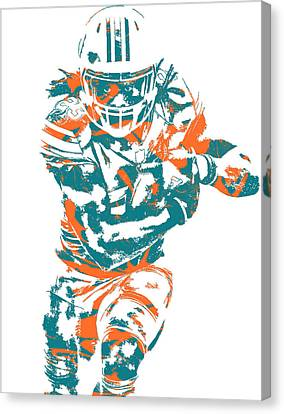 Dolphin Canvas Print - Jay Ajayi Miami Dolphins Pixel Art 2 by Joe Hamilton