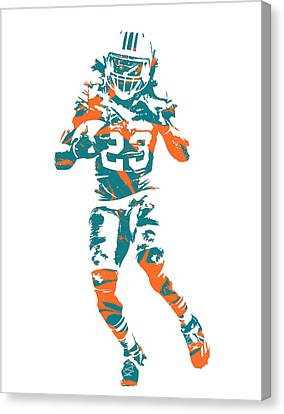 Dolphin Canvas Print - Jay Ajayi Miami Dolphins Pixel Art 3 by Joe Hamilton