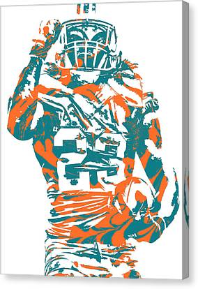Dolphin Canvas Print - Jay Ajayi Miami Dolphins Pixel Art 5 by Joe Hamilton