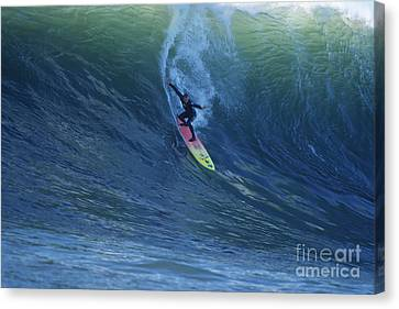 Jay Drops In At Mavericks Canvas Print