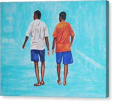Jay Walkers Canvas Print by Usha Shantharam