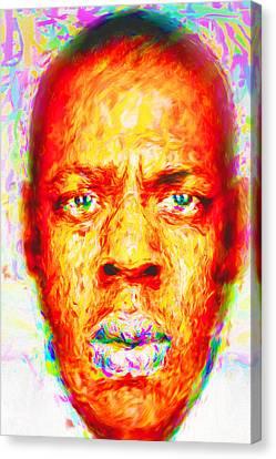 Jay-z Shawn Carter Digitally Painted Canvas Print by David Haskett