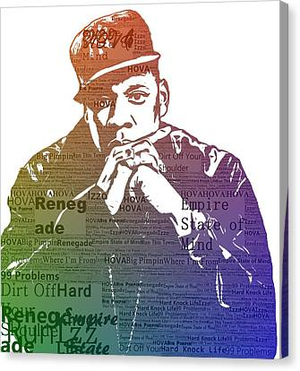 Jay Z Typography Canvas Print by Dan Sproul