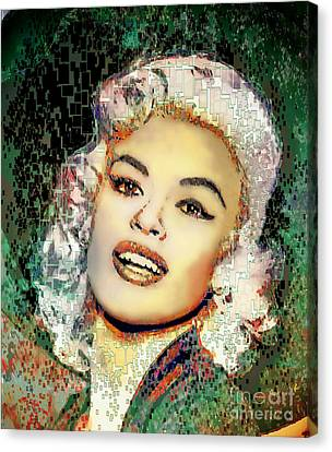 1950s Portraits Canvas Print - Jayne Mansfield - Pop Art by Ian Gledhill