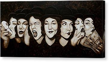 Jaynie Faces Her Seven Sins Canvas Print
