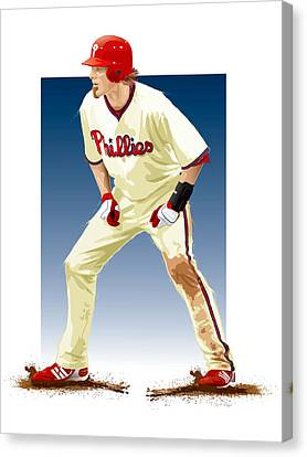 Batter Canvas Print - Jayson Werth by Scott Weigner