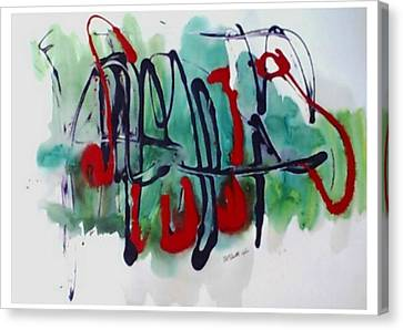 Jazz 2nd Series Painting 5 Canvas Print by B L Qualls