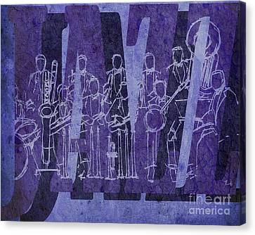 Jazz 30 Orchestra Purple Canvas Print by Pablo Franchi