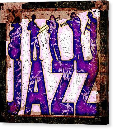 Jazz Abstract Canvas Print by David G Paul