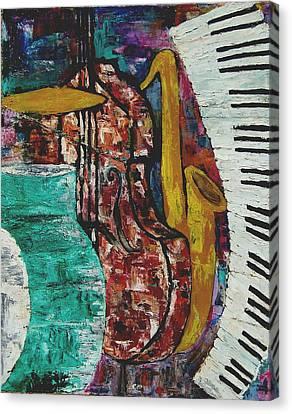 Jazz Canvas Print by Andrea Vazquez-Davidson