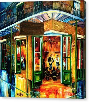 Jazz At The Maison Bourbon Canvas Print by Diane Millsap