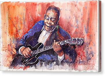 Jazz B B King 06 A Canvas Print by Yuriy  Shevchuk