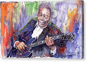 Jazz B B King 06 Canvas Print by Yuriy  Shevchuk