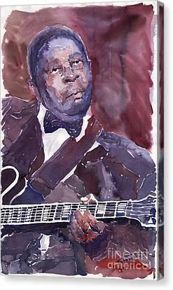 Jazz B B King Canvas Print by Yuriy  Shevchuk