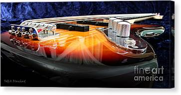 Jazz Bass Beauty Canvas Print by Todd A Blanchard