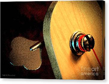 Jazz Bass Tuner Canvas Print