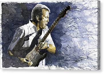Jazz Eric Clapton 1 Canvas Print by Yuriy  Shevchuk