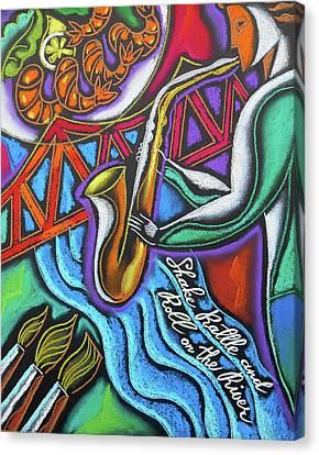 Jazz, Food And Art Festival Canvas Print