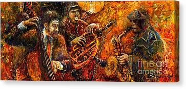 Jazz Gold Jazz Canvas Print by Yuriy  Shevchuk