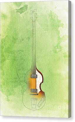 Jazz Green Bass Canvas Print by Pablo Franchi