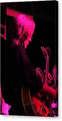 Canvas Print featuring the photograph Jazz Guitarist by Lori Seaman