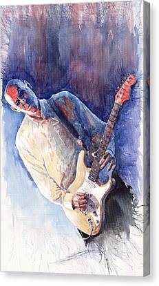 Jazz Guitarist Rene Trossman Canvas Print