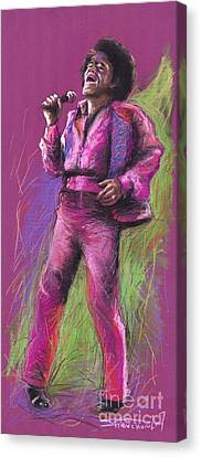 Jazz James Brown Canvas Print by Yuriy  Shevchuk