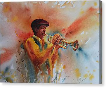 Jazz Man Canvas Print by Ruth Kamenev
