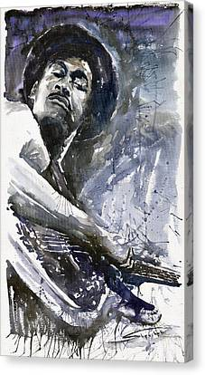 Jazz Marcus Miller 01 Canvas Print by Yuriy  Shevchuk