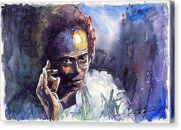 Jazz Miles Davis 11 Canvas Print by Yuriy  Shevchuk