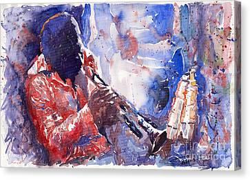 Jazz Miles Davis 15 Canvas Print by Yuriy  Shevchuk