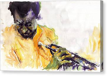 Jazz Miles Davis 7 Canvas Print by Yuriy  Shevchuk