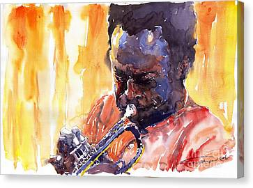 Jazz Miles Davis 8 Canvas Print by Yuriy  Shevchuk