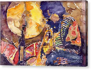 Jazz Miles Davis Electric 2 Canvas Print by Yuriy  Shevchuk